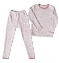 Pijama dos piezas para niña Termica - Rosada