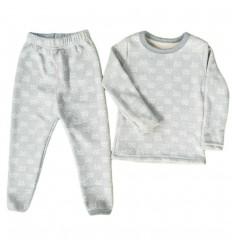 Pijama dos piezas para niña Termica- Gris