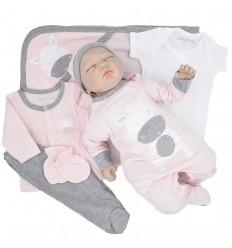 Primera muda para bebé niña - Rosado Cebra