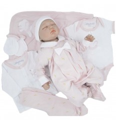 Primera muda para bebé niña - Rosada Ratona