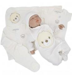 Primera muda para bebé - Osito Crudo