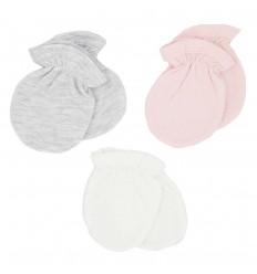Set de 3 mitones para bebé niña