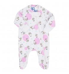 Pijama para bebé prematura - ovejitas circulos