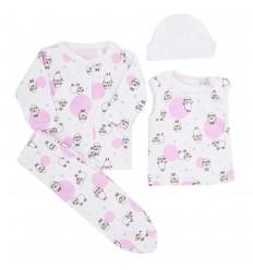 Conjunto de ropa para bebé prematura- Ovejas circulos