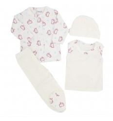 Conjunto de ropa para bebé prematura- gatitos