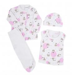 Conjunto de ropa para bebé prematura - Ovejitas circulos