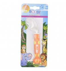 Cuchara de silicona para bebé-Naranja