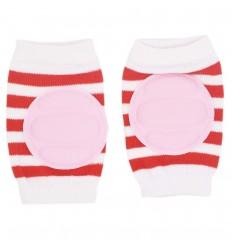 Protector de rodillas para bebé niña rayas