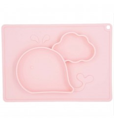 Plato en silicona para bebé con diseño de ballena