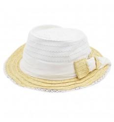 Sombrero tejido para niña Mayoral - Blanco