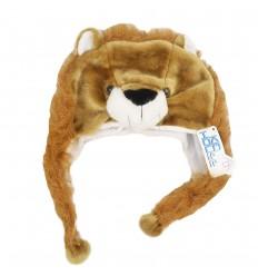 Gorro con orejeras diseño de leon