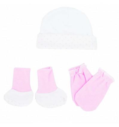 Set para bebé prematura - blanco rosa
