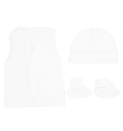Set de ropa para bebé prematuro-Blanco