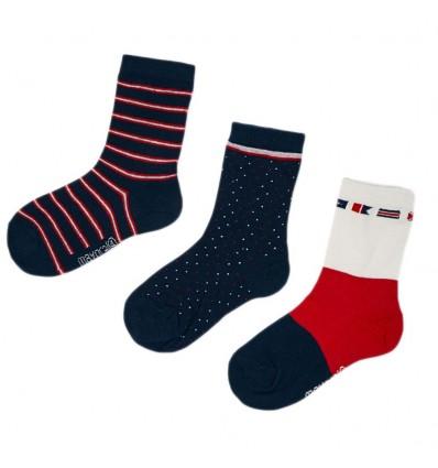 Set de 3 pares de medias para niño - Rojo