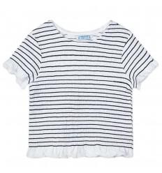 Camiseta corta con arandelas para niña