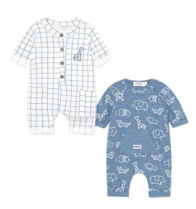 Set por 2 mamelucos para bebé niño- animales