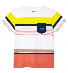 Camiseta mayoral a rayas para niño