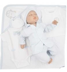 Primera muda para bebé niño - Azul pingüino