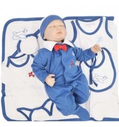 Primera muda para bebé niño - Azul Aviones