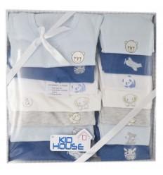 Semanario 14 piezas para bebé niño- Azul