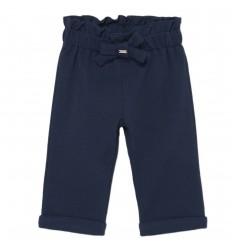 Pantalon resortado para niña- Marino