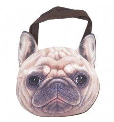 Bolso cara de bull dog frances - Cafe