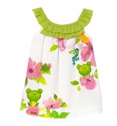Vestido estampado de flores bebé niña