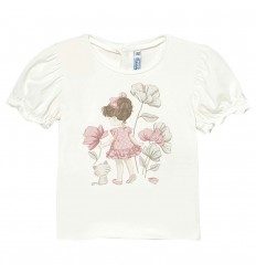 Camiseta Ecofriends aplique bebé niña