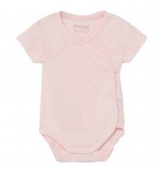 Body manga corta básico bebé -Rosado