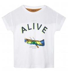 Camiseta para niño canoa - Blanca