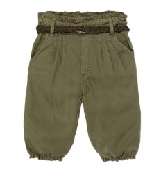 Pantalón largo fluido Ecofriends bebé niña-Verde
