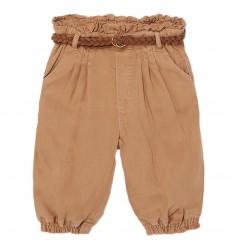 Pantalón largo fluido Ecofriends bebé niña-Caramelo