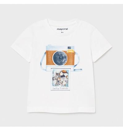 Camiseta polo para bebé niño- Blanco