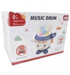 Tambor musical para bebé - Azul
