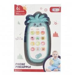 Telefono para bebé diseño de piña- Azul