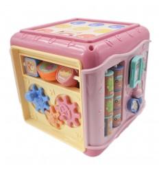 Juego para bebé cubo de sabiduria- Rosa