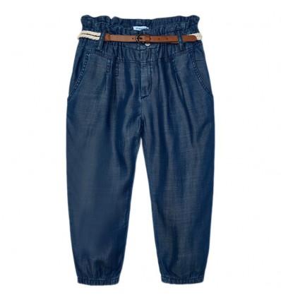 Pantalon jean resortado bota niña- Indigo