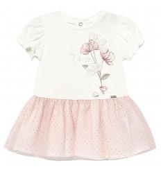 Vestido tutu pepas para bebé niña - Rosa