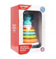 Anillos de apilamiento musical-Elefante