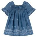 Vestido tejano fluido bebé niña