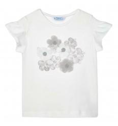 Camiseta Ecofriends serigrafía niña - Crudo