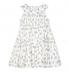 Vestido estampado para niña - Blanco