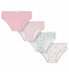 Set de 4 panties para niña- Rosa