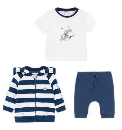 Sudadera 3 piezas para bebé - Azul