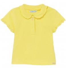 Camiseta polo para bebé niña-Amarillo