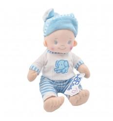 Bebé niño en tela con sonido de oración- Azul