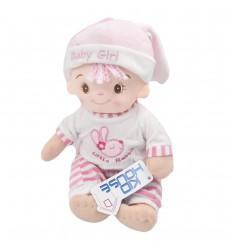Bebé niña en tela con sonido de oración-Rosa
