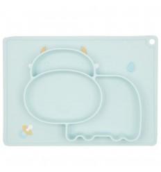 Plato en silicona para bebé con diseño vaquita- Verde