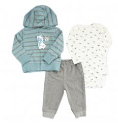 Conjunto 3 piezas para bebé niño - Perrito