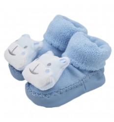 Babucha para bebé diseño oso - Azul